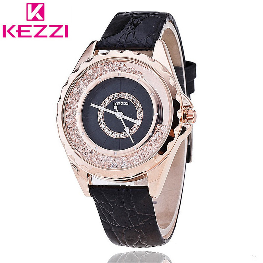 Kezzi Brand Women Diamond Leather Watch Fashion Casual Quartz Watch For Woman Wristwatch relogio feminino цена