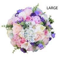 Hot Outdoor Elegant Bride Artificial Flower Bouquet Handmade Rose Wedding Artificial Bride Throw Bouquet For Engagement WED0888