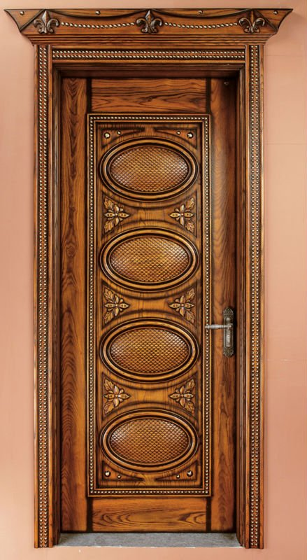 High Quality Exterior Doors Jefferson Door: 100% High Quality Solid Wood Door/Luxury Carving Single