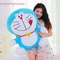 25 - 50 cm que sobresale lengua Doraemon gato de juguete de felpa Animal relleno de la muñeca niños japoneses Cartoon Movie Character Kawaii buena calidad