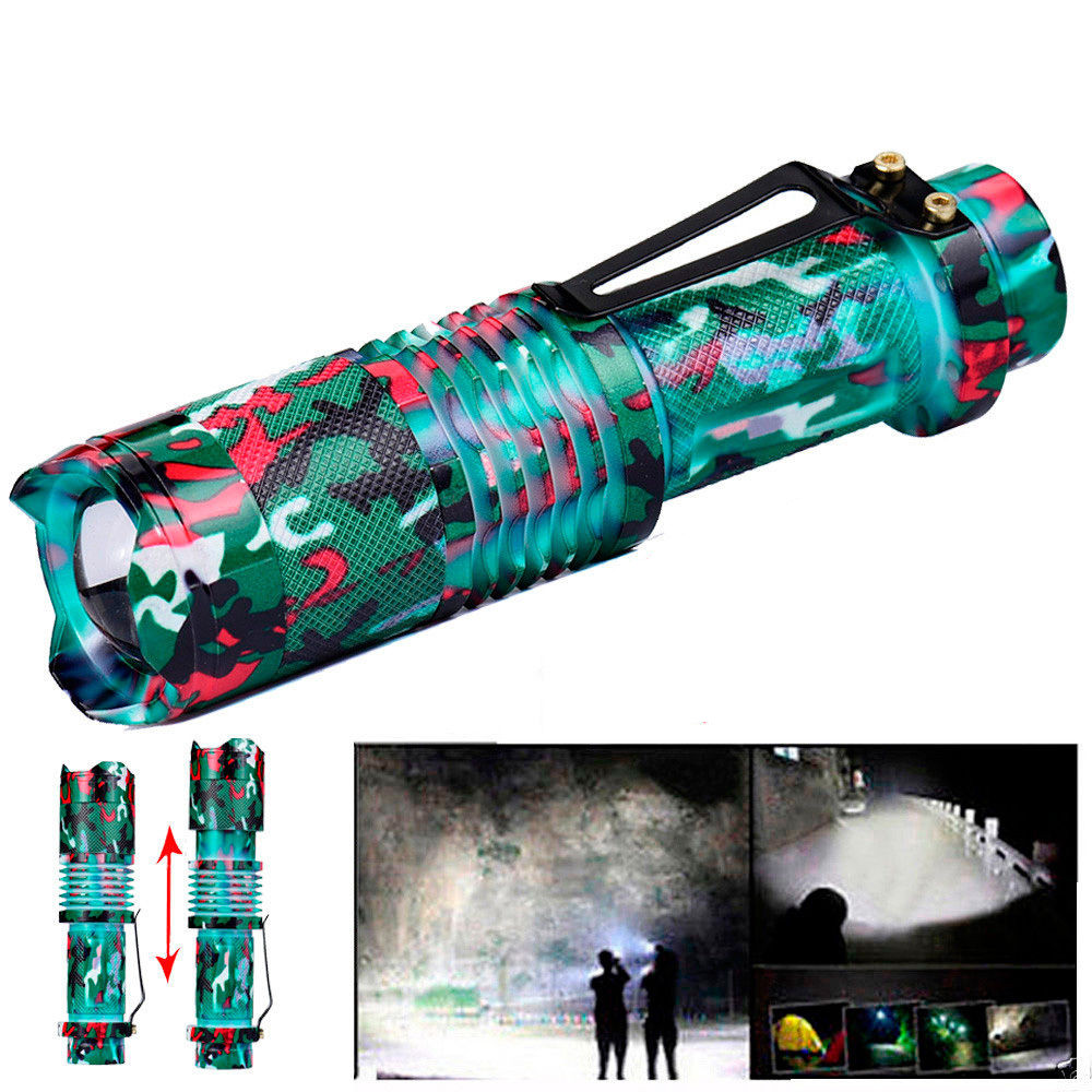 Super Bright Zoomable Cree T6 LED 5 Modes Flashlight Torches 18650 Lamp Outdoor Light fashlight nktech super bright nk 9t6 9x