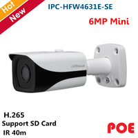 Dahua POE 6mp IP Camera IPC HFW4631E SE Support SD Card and Smart Detection H.265 H.264 Camera ip outdoor camera Wholesale