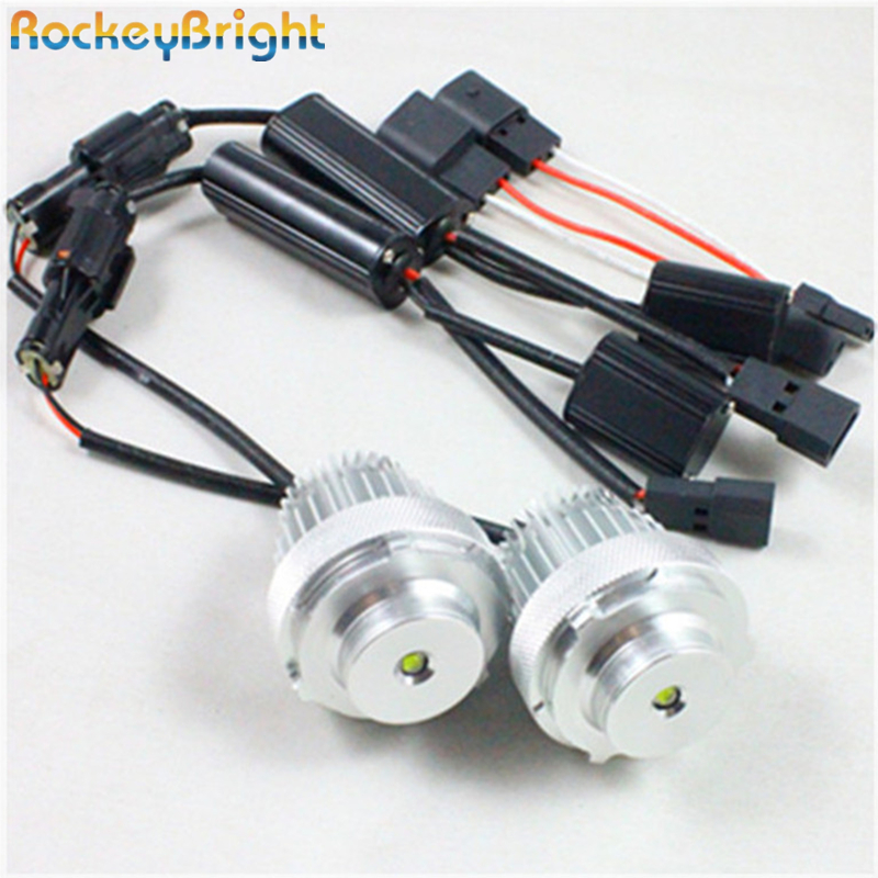 Rockeybright e60 e61 20w led angel eyes bulb white led halo ring led marker for bmw e60 e61 lci angel eyes marker bulb