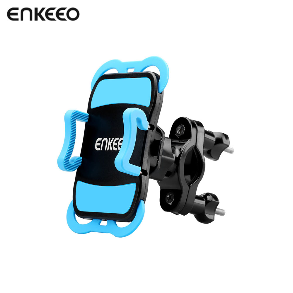 Enkeeo Universal Bike Phone Mount for Cycling Compatible With iOS and Android Smartphones Cycling Phone Mount Holder