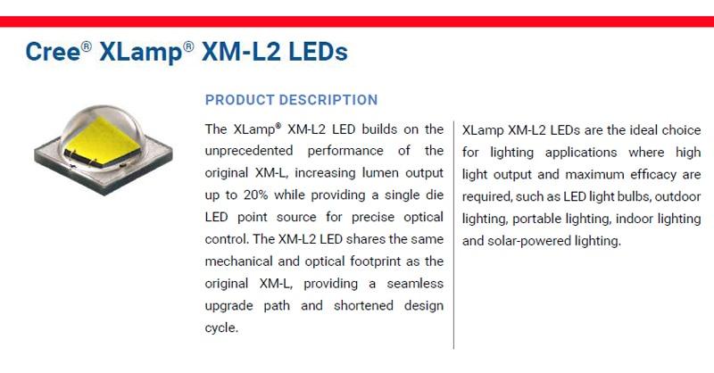 CREE XM-L2 U3 details