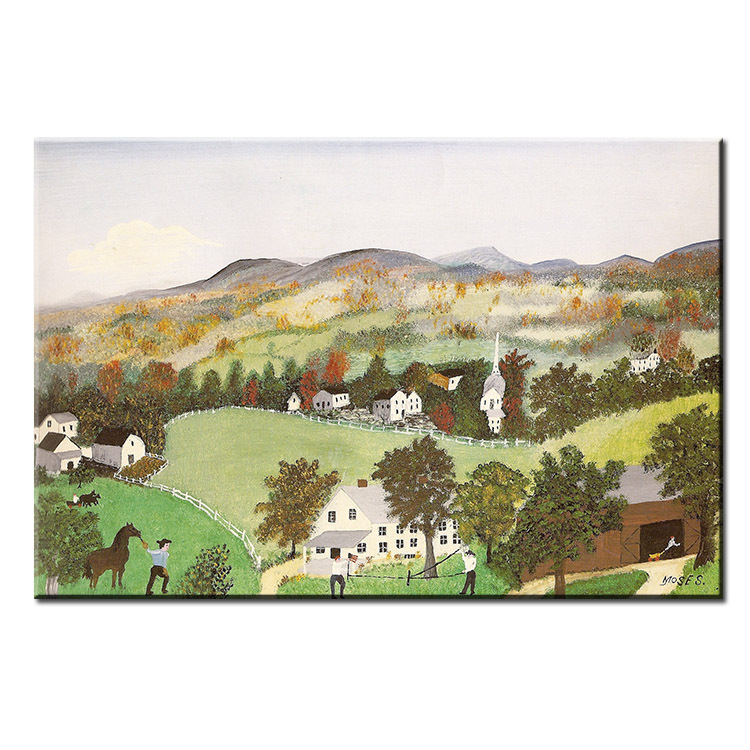 dp artisan home in the hills anna mary robertson grandma moses wall painting