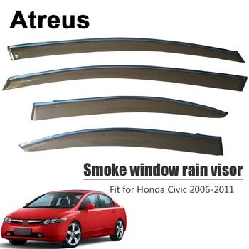Atreus 4pcs For Honda Civic 2006 2007 2008 2009 2010 2011 Car Accessories Door Smoke Window Sun Rain Visor Wind Deflectors Guard