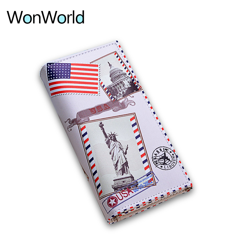 High Quality Leather Women Wallets More Color Printing