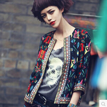 Hitz coat  embroidered ethnic style short coat women jacket coat