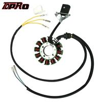TDPRO 12 Spulen Magneto Stator Pad Draht Spule Stecker Teile Für 4 hub 200cc 250cc Bashan Taotao ATV Quad buggy Go Kart Dirt Bike|Motorrad-Zündung|   -