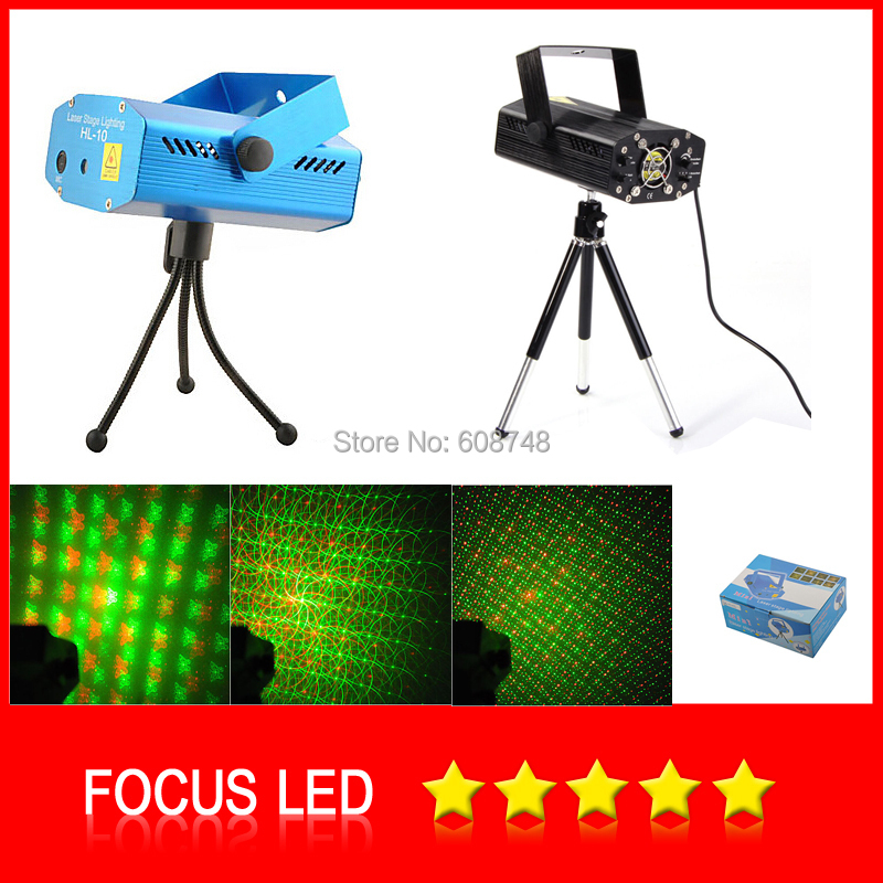 Portable multi LED bulb Projector Stage Disco DJ Xmas Show Club Laser Lighting Light + Tripod rg mini 3 lens 24 patterns led laser projector stage lighting effect 3w blue for dj disco party club laser
