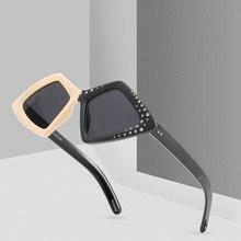 LIKEU'S брендовые дизайнерские полигональные солнцезащитные очки с бриллиантами Женские Модные брендовые двухцветная рама солнцезащитные очки градиентные очки UV400