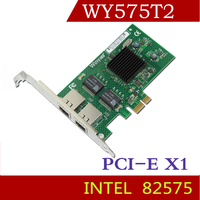 Winyao WY575T2 PCI E X1 Desktop Dual Port Gigabit Ethernet Adapter Network Card Intel82575 Chipset ROS
