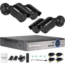DEFEWAY Video Surveillance System 1080N HDMI DVR 1200TVL 720P HD Outdoor Home Security Camera System 8 CH DVR AHD CCTV Kit