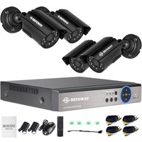 DEFEWAY Video Surveillance System 1080N HDMI DVR 1200TVL 720P HD Outdoor Home Security Camera System 8 CH DVR AHD CCTV Kit