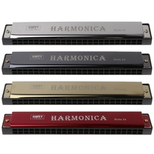OOTDTY Professional 24 Hole Harmonica Key of C Mouth Metal Organ for Beginners  Mouth Harmonica недорого