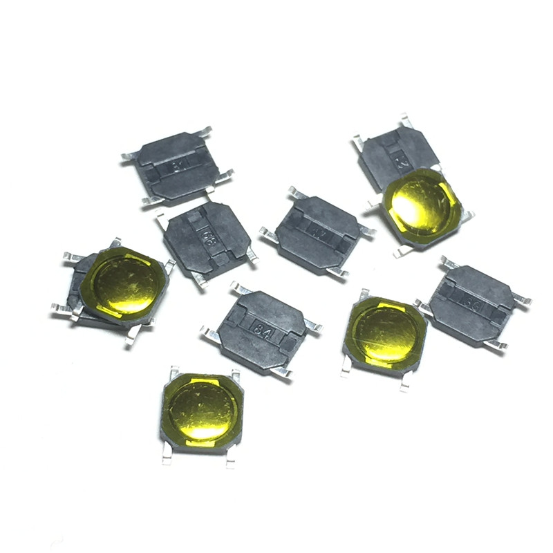100pcs 4x4x0.8mm Tact Switch SMT SMD Tactile Membrane Switch PUSH Button SPST-NO 4*4*0.8 Waterproof  Microwave Oven Switch 100 x smd smt pcb momentary 2 pin spst tactile tact switch 6mm x 3mm x 3 5mm
