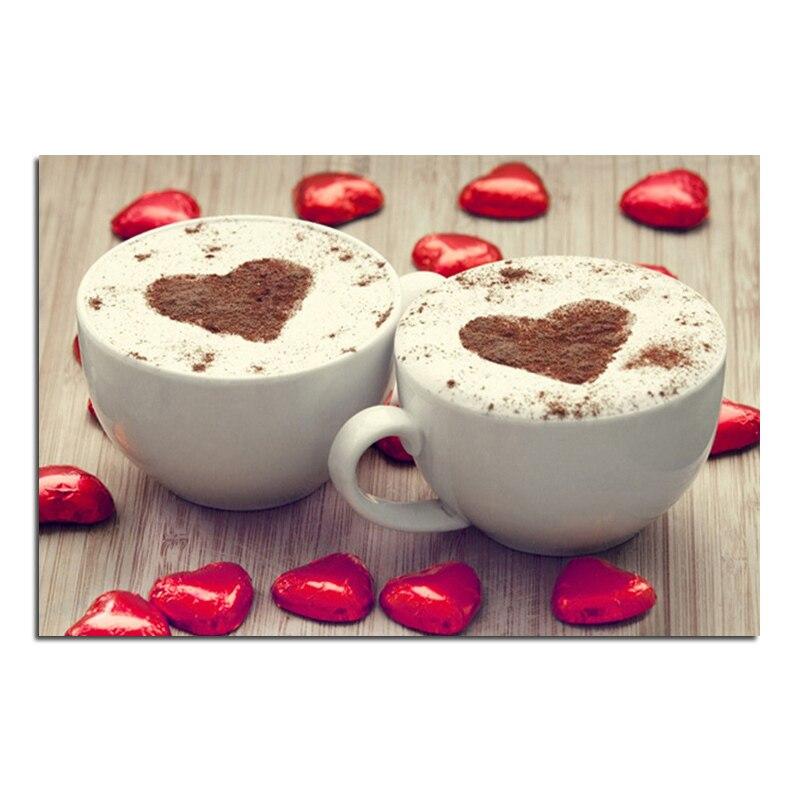 Amor café 30x20 Diamante bricolaje bordado punto de cruz pintura - Artes, artesanía y costura