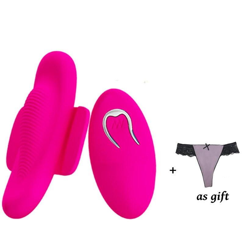 Sans fil télécommande sous-vêtements vibrateur sangle sur gode Invisible 12 vitesses culotte vibrante masturbateur stimulateur Sex Toys pour femme