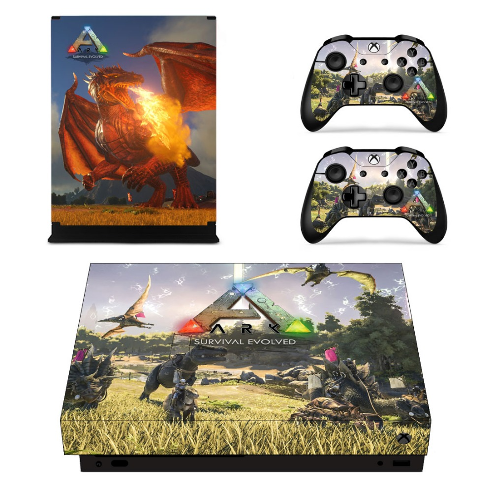 X0022 Game accessories Skin Sticker for Microsoft Xbox One X Console and 2 Controllers skins Stickers for XBOXONE X Enhanced