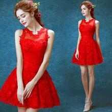 Mode schöne reizvolle rote kleid 2411Q frauen Cocktailkleider größe 2-14