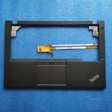 Neue Original für Lenovo ThinkPad X250 X250i X240 Palmrest Abdeckung Ober Fall + 3 Drei Tasten Touchpad + Fingerprint + cable00HT390 01YU100