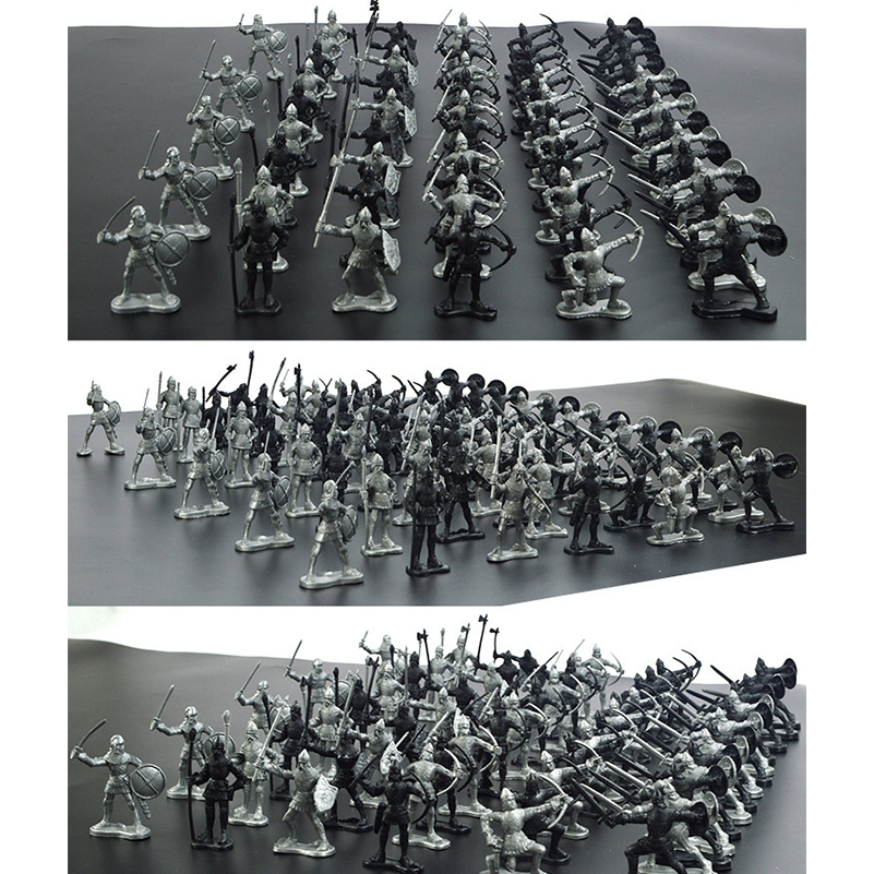 60Pcs Set Middle Ages Military Soldier Toys Mini Classic Soldier Weapons for Model Sandbox Figures Toys for Children Gifts in Action Toy Figures from Toys Hobbies