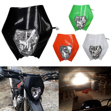 TDPRO Motorcycle Dirt Bike Headlight Fairing Motocross Headlamp Universal Fit KTM SX SXF EXC EXCF 125 200 250 350 450 XCF SMR powerzone headlight for ktm sx exc xcw xcf sxf smr motorcycle dirt bike motocross supermoto enduro headlamp headlight fairing