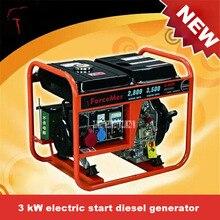 New Hot AD3500 3KW Electric Start Diesel Generator 220v/380v 50Hz/60Hz Large Truck Generator Small Household Diesel Generator
