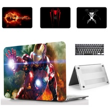 Жесткий чехол для ноутбука с рисунком+ чехол для клавиатуры для Apple Mac MacBook Air11 13 дюймов Pro retina touch bar 12 13 15 15,4 дюймов