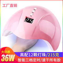36W intelligent induction nail lamp LED/UV phototherapy machine baking lamp Automatic three-speed timing nail polish lamp bilibulb ref 6600 0680 200 bilib 6 pak ohmeda high performance biliblanket phototherapy lamp
