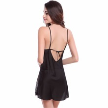 Summer Nightdress Sheer Chemises Nightshirt Lace Sleepwear