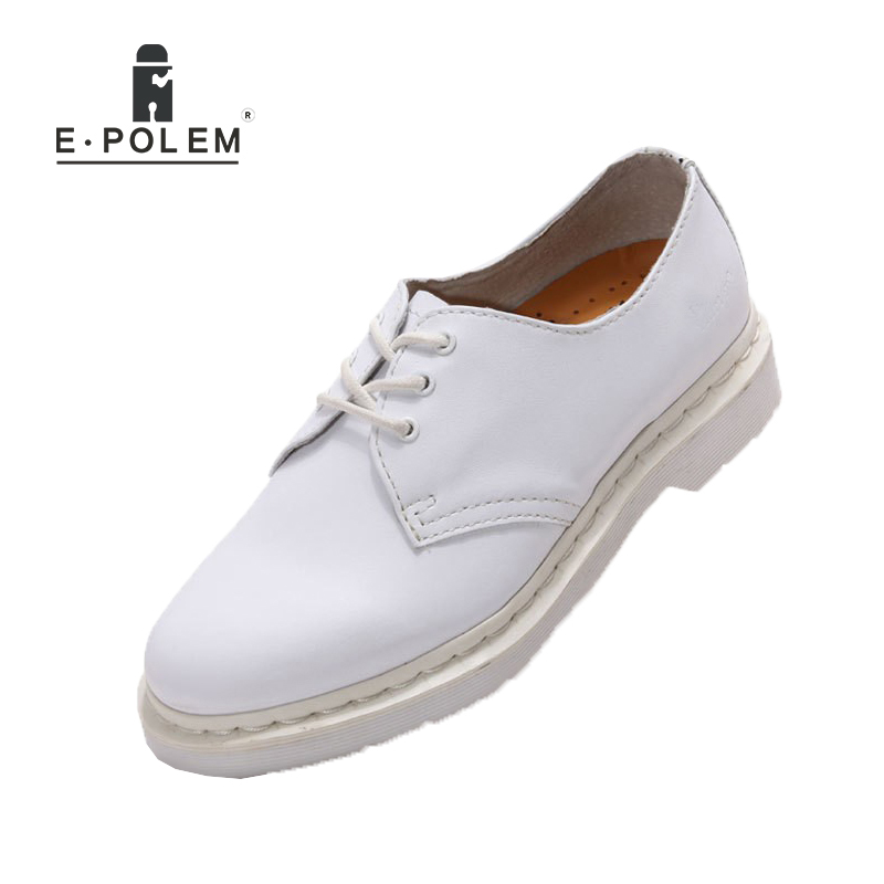 Genuine Leather Mens White Wedding Shoes 2017 Spring Autumn Fashion Oxford Shoes for Men Flats Casual Boots Shoes Lace Up Unisex shiny slim black gold red flats shoes mens casual shoes genuine leather mens outdoor shoes ankle boots