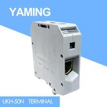 Bloque de terminales de conexión de 150A y 1000V, 5 uds., UKH 50N(UK 50N), 50 mm2, placa de orejeta, conector de Cable de empalme
