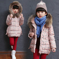 New Brand Children Outerwear Fashion Floral print Warm Cotton Down Girl Winter Coat Kids Clothes Baby Girls Jackets For 4-14T