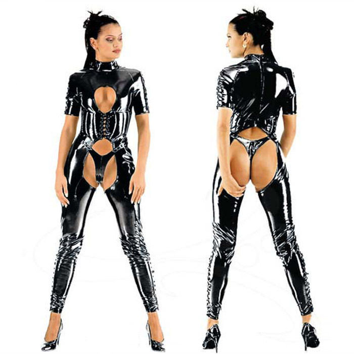 Party Costume New Catsuit Costume Preto Sexy Latex Catsuit Cat Fantasias Lingerie Ternos Club Wear Para Mulheres In Teddies Bodysuits From Novelty
