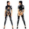 party costume New catsuit costume preto Sexy Latex Catsuit Cat fantasias Lingerie ternos Club Wear para mulheres