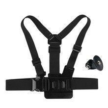 Borst Mount Harness Borstband voor GoPro Hero 7/6/5/4/3/3 + /2/1 Xiaomi Yi 4 K SJCAM SJ4000 SJ5000 SJ EKen h9