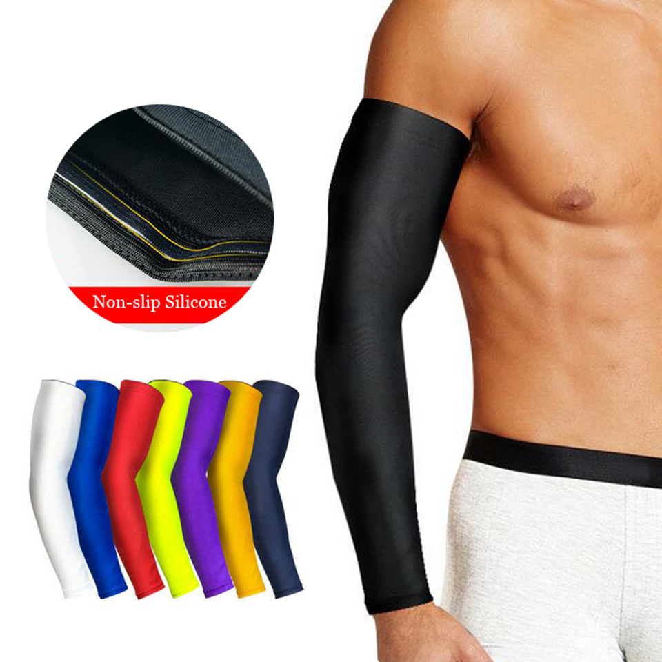1PCS High Elastic Basketball Arm Sleeve Armband Soccer Volleyball Elbow Support Brace Cotovelo De Basquete Sports Safety
