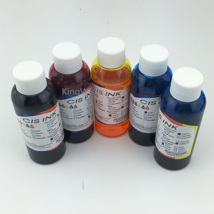 ФОТО Free Shipping 5PCS/Lot 100ML T1151 T1151 T0732N T0733N T0734N Edible Ink For Epson Stylus T33 Inkjet Printer