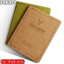 RBP caso para el mini ipad 2 cubierta de la caja de cuero Retro para apple iPad mini 1 2 3 caso 7.9 pulgadas De La serie para el ipad mini caso cubierta