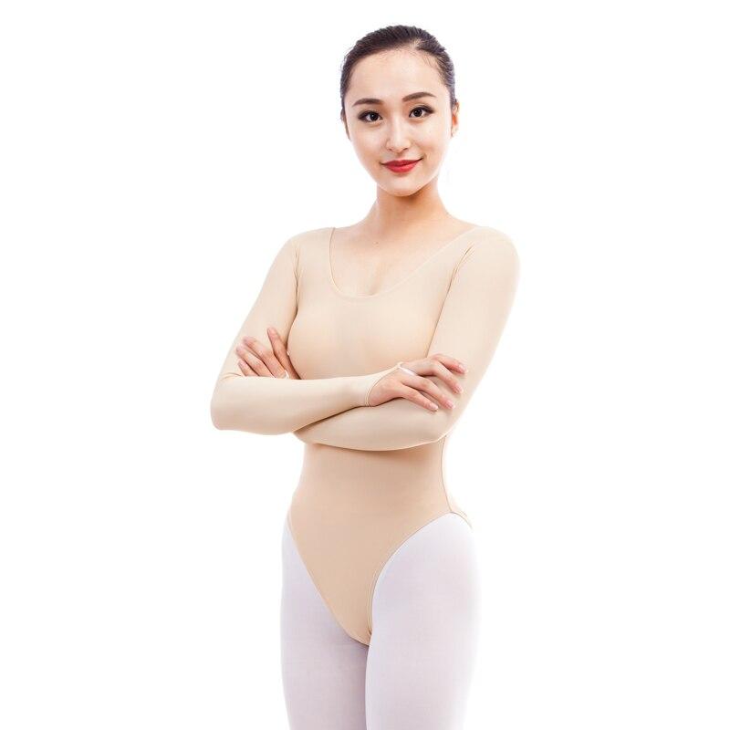 Ballet Leotards Gymnastics Leotard For Women Adult Dance Leotard Dance Wear Lycra/milk silk Flesh Bodysuit Ballerina Clothes