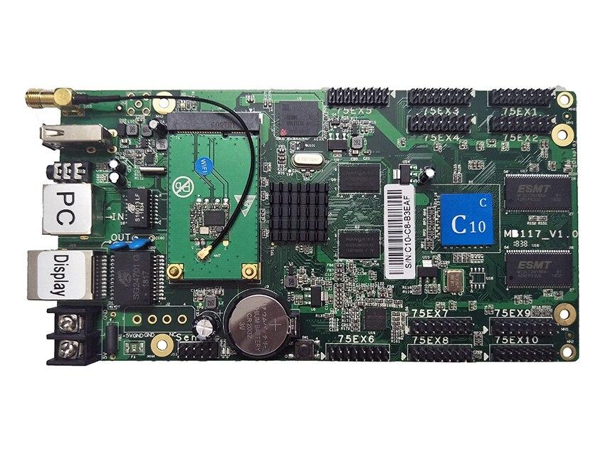 HD-C10-c wifi cor cheia display led cartão