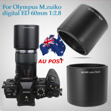 Camera Long Lens Hood For Olympus M.ZUIKO DIGITAL ED 60mm 1:
