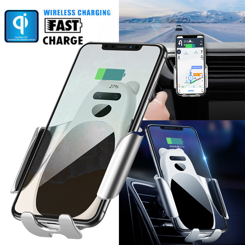 Wireless-Charger Car-Phone-Holder Ugreen iPhone Galaxy 15-W Qi Car Samsung for Xs-X-8