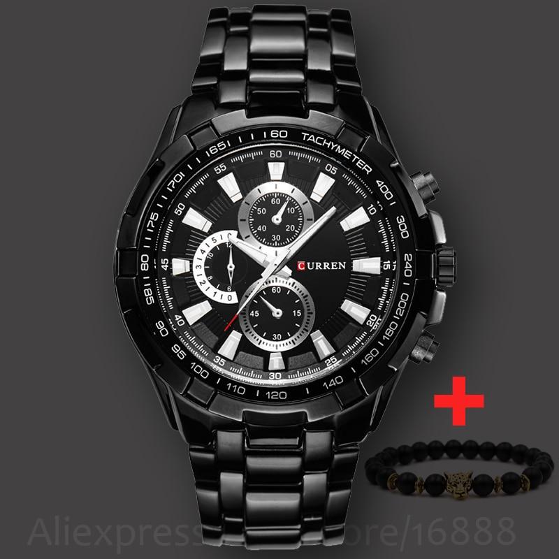 2018 New Fashion Curren Luxury Brand Man quartz full stainless steel Watch Casual Military Sport Men Dress Wristwatch Gentleman