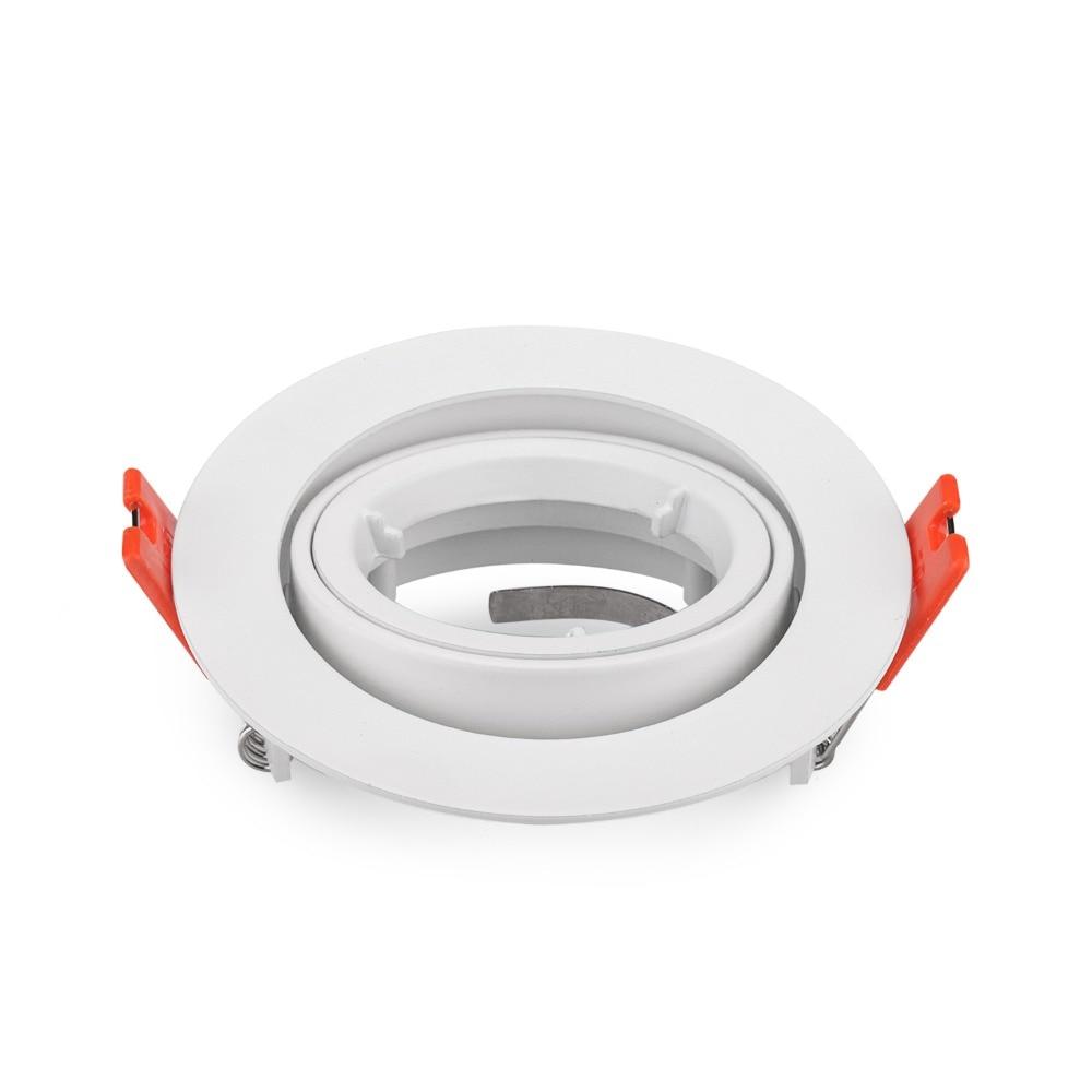 Promotion Gimbal Kits Install Square Frame For LED Spot Light Fixture For MR16 GU10 GU5.3 Halogen Cup Bulb Holder 50mm
