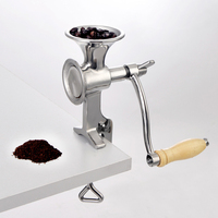 Full stainless steel Classical Kitchen Tool Manual Poppy Mill Grain Seeds Mill Hand Operated Nut Grinder and Spice Grinder