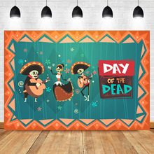 Neoback Day Dead Mexican Fiesta Photo Background Photophone Custom Photography Backdrops Studio Shoots