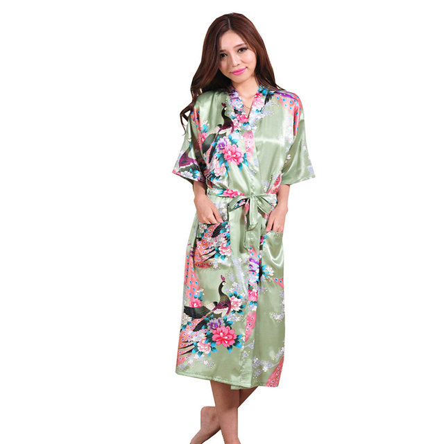 2016 Silk Kimono Robes For Women Satin Bathrobe Long Silk Robes For Bridesmaids Longue Femme Women Dressing Gown Bridesmaid Robe